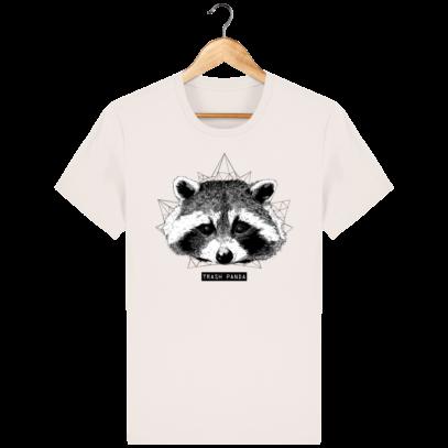 T Shirt Canada - Raton Laveur/Racoon - Trash Panda - Vintage White - Face