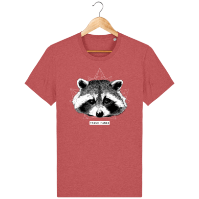 T Shirt Canada - Raton Laveur/Racoon - Trash Panda - Mid Heather Red - Face