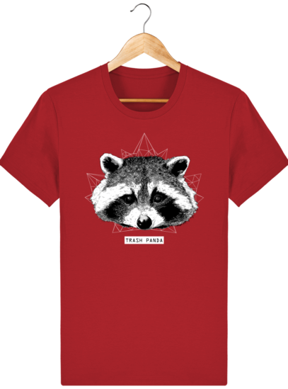 T Shirt Canada - Raton Laveur/Racoon - Trash Panda - Red - Face