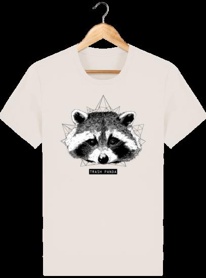 T Shirt Canada - Raton Laveur/Racoon - Trash Panda - Off White - Face
