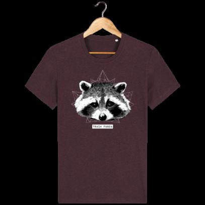 T Shirt Canada - Raton Laveur/Racoon - Trash Panda - Heather Grape Red - Face
