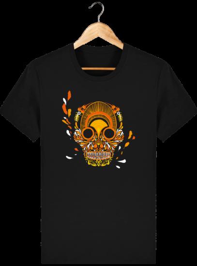T Shirt Mexique - Breizh Skull - La Calavera Bretaña - Black - Face