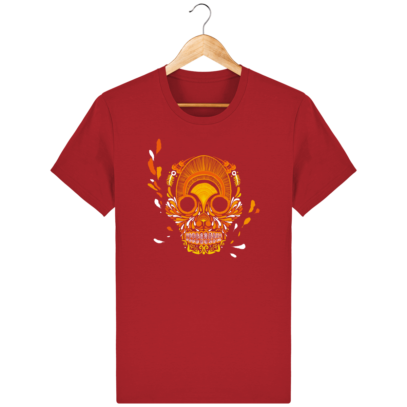 T Shirt Mexique - Breizh Skull - La Calavera Bretaña - Red - Face