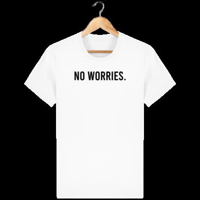 T Shirt 100% coton Australie - No worries - White - Face