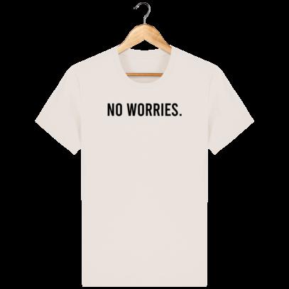 T Shirt 100% coton Australie - No worries - Off White - Face