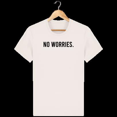 T Shirt 100% coton Australie - No worries - Vintage White - Face