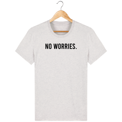 T Shirt 100% coton Australie - No worries - Cream Heather Grey - Face