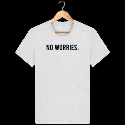 T Shirt 100% coton Australie - No worries - Heather Ash - Face