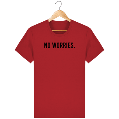 T Shirt 100% coton Australie - No worries - Red - Face