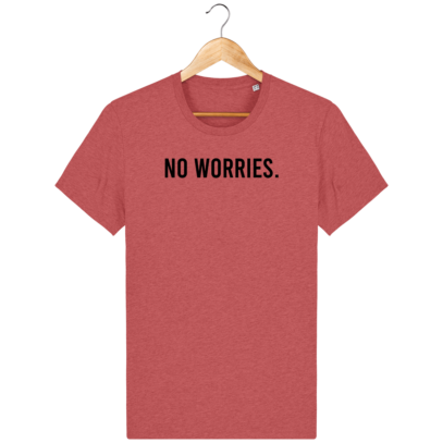T Shirt 100% coton Australie - No worries - Mid Heather Red - Face