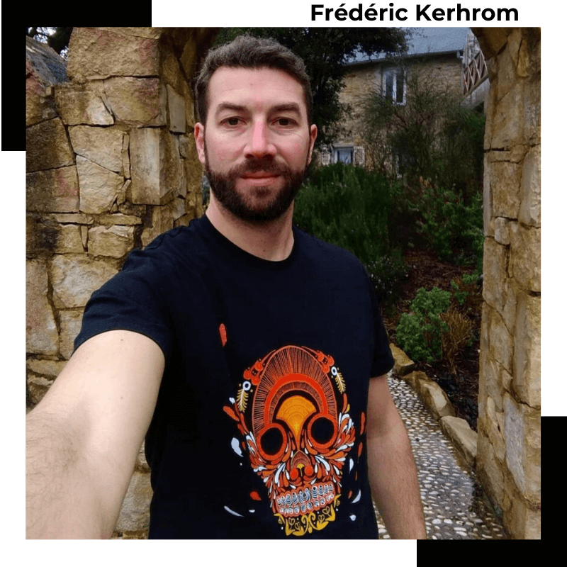 Frédéric Kerhrom @souffleurdebreizh ambassadeur de la marque Breizh Traveller. Marque Bretonne