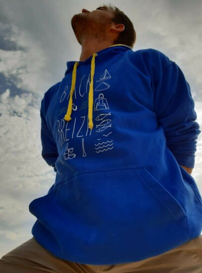 hoodie breton coton