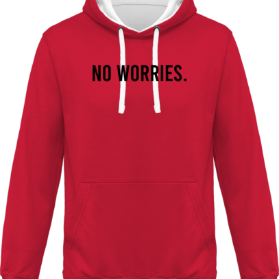 Hoodie 80% coton bio No Worries - KARIBAN Fuchsia / Fine Grey - Face