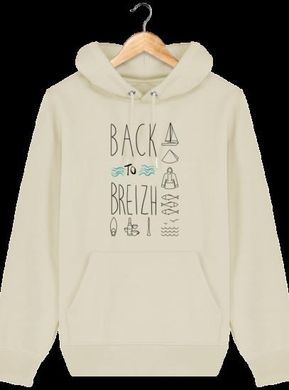 Sweat capuche Unisexe Breton Back to Breizh - Desert Dust - Face