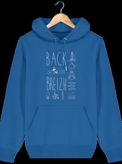 Sweat capuche Unisexe Breton Back to Breizh - Royal Blue - Face