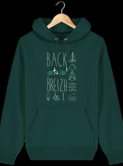 Sweat capuche Unisexe Breton Back to Breizh - Glazed Green - Face