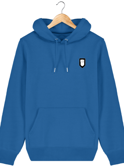 Sweat à capuche Unisexe Broderie Logo Hermine - Royal Blue - Face