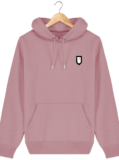 Sweat à capuche Unisexe Broderie Logo Hermine - Canyon Pink - Face