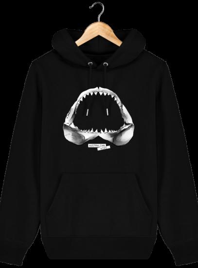 Sweat à capuche Unisexe Requin - Black - Face