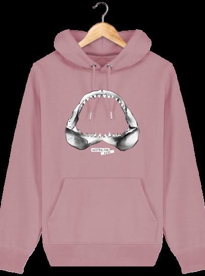 Sweat à capuche Unisexe Requin - Canyon Pink - Face