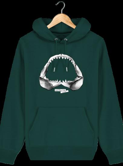 Sweat à capuche Unisexe Requin - Glazed Green - Face