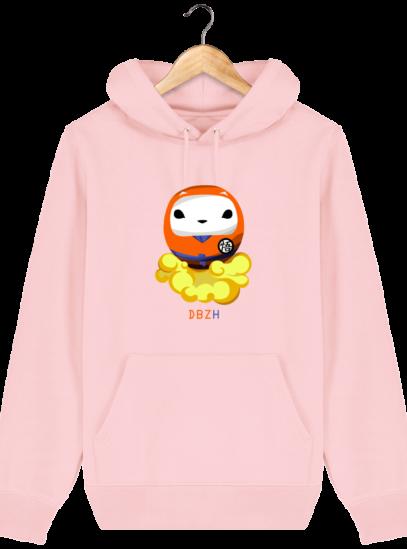 Sweat à capuche Unisexe Dragon BZH - Cotton Pink - Face