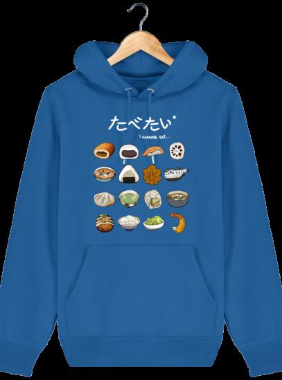 Sweat à capuche Unisexe Gastronomie Japonaise - Royal Blue - Face