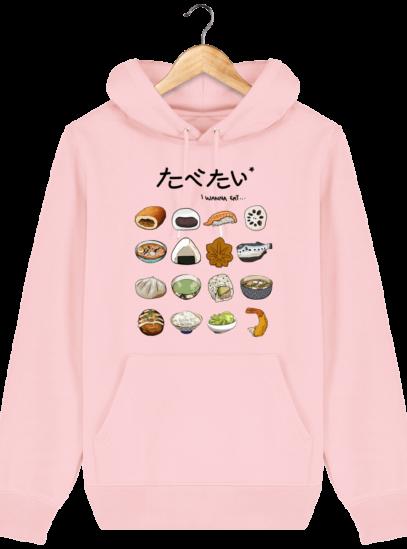 Sweat à capuche Unisexe Gastronomie Japonaise - Cotton Pink - Face