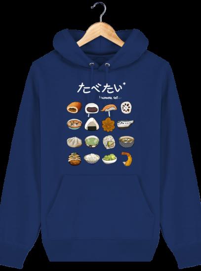 Sweat à capuche Unisexe Gastronomie Japonaise - Majorelle Blue - Face