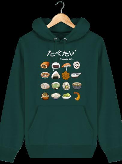 Sweat à capuche Unisexe Gastronomie Japonaise - Glazed Green - Face