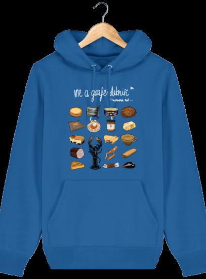 Sweat à capuche Unisexe Gastronomie Bretonne - Royal Blue - Face