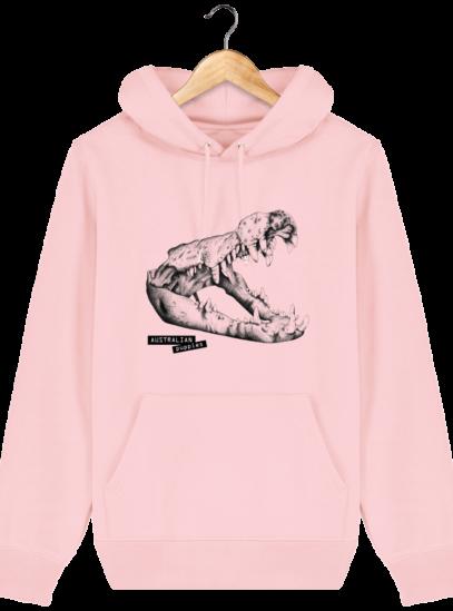 Sweat à capuche Unisexe Crocodile - Cotton Pink - Face