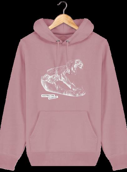 Sweat à capuche Unisexe Crocodile - Canyon Pink - Face