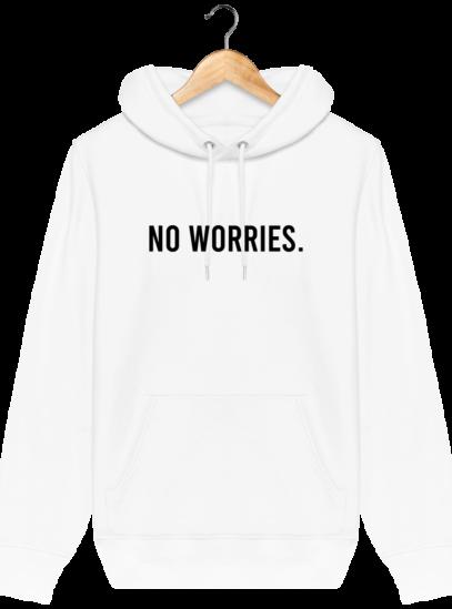 Sweat à capuche Unisexe No Worries - White - Face