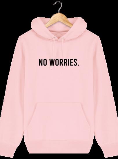 Sweat à capuche Unisexe No Worries - Cotton Pink - Face