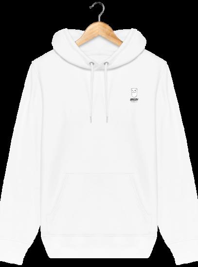Sweat à capuche Unisexe Logo Hermine - White - Face
