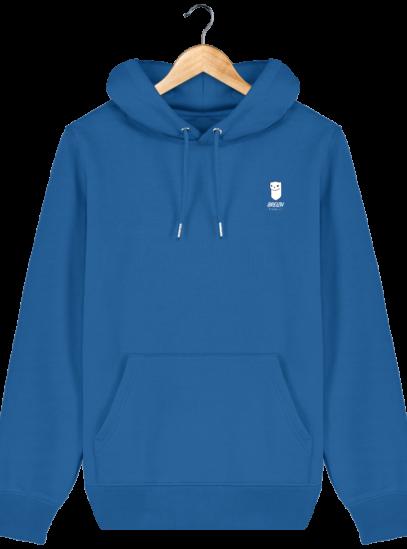 Sweat à capuche Unisexe Logo Hermine - Royal Blue - Face