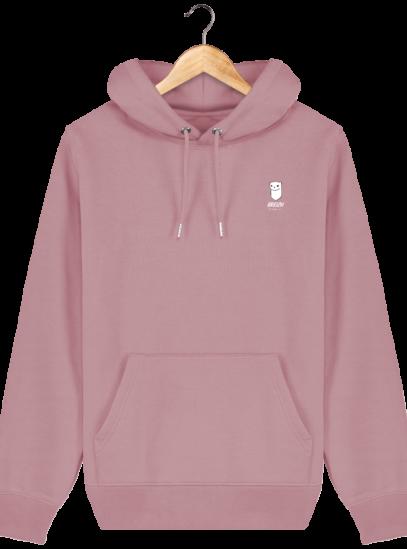 Sweat à capuche Unisexe Logo Hermine - Canyon Pink - Face