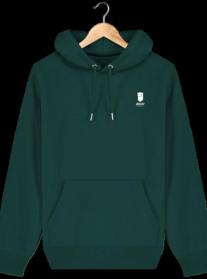 Sweat à capuche Unisexe Logo Hermine - Glazed Green - Face