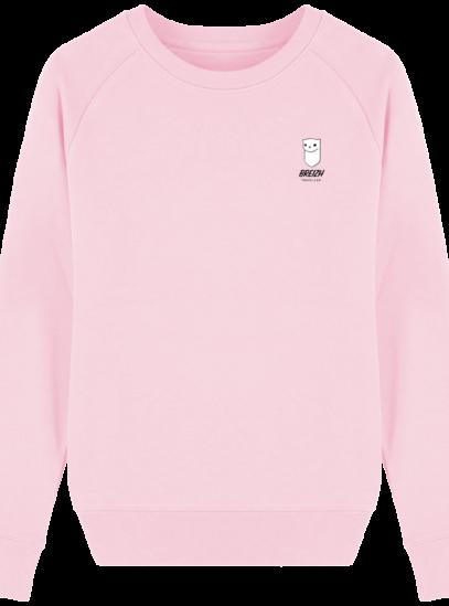 Sweat Femme éthique Breizh Traveller - Cotton Pink - Face