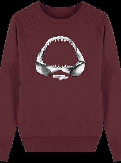 Sweat Femme éthique Shark - Burgundy - Face