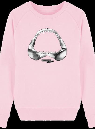 Sweat Femme éthique Shark - Cotton Pink - Face