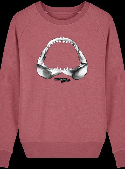 Sweat Femme éthique Shark - Heather Cranberry - Face