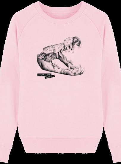 Sweat Femme éthique Crocodile - Cotton Pink - Face