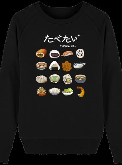 Sweat Femme éthique Gastronomie Japonaise - Black - Face