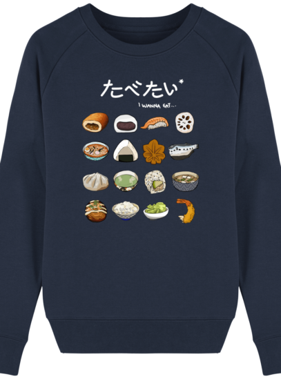 Sweat Femme éthique Gastronomie Japonaise - French Navy - Face