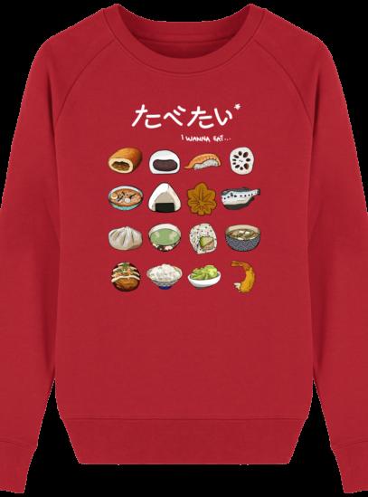 Sweat Femme éthique Gastronomie Japonaise - Red - Face