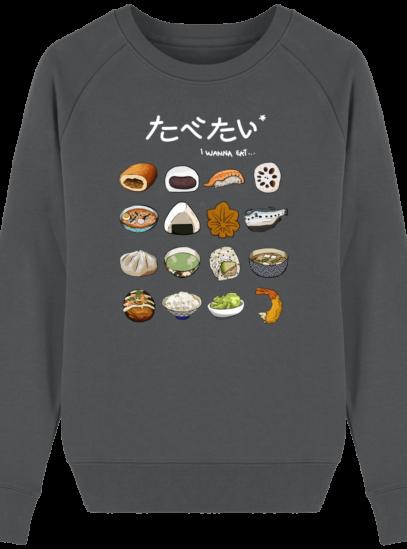 Sweat Femme éthique Gastronomie Japonaise - Anthracite - Face
