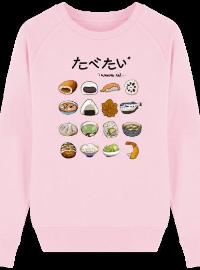 Sweat Femme éthique Gastronomie Japonaise - Cotton Pink - Face