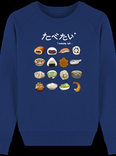 Sweat Femme éthique Gastronomie Japonaise - Majorelle Blue - Face